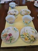 Incomplete Collector Set Kasuga Ware Fine China Birthday Floral Series