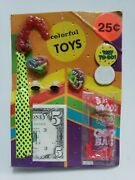 Vintage Colorful Toys Old Gumball Vending Machine Display Card 189