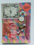 Vintage Colorful Toys Old Gumball Vending Machine Display Card 188