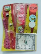 Vintage Colorful Toys Old Gumball Vending Machine Display Card 196