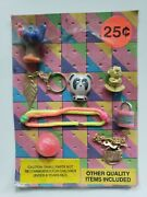 Vintage Charms And Toys Old Gumball Vending Machine Display Card 194