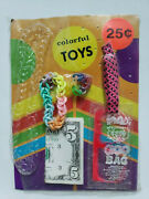 Vintage Colorful Toys Old Gumball Vending Machine Display Card 184