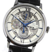 Wristwatch Orient Orient Star Rk-dx0001s Menand039s Used Silver Black Manual 39mm