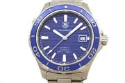 Wristwatch Tag Heuer Aquaracer Calibre 5 Wak2111.ba0830 Menand039s Used Silver Blue