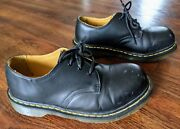 Dr. Martens 1925 5400 3-eye Black Leather Steel Toe Work Casual Shoes 5m / 6l