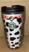 Starbucks Coffee Dog Days Dalmatian Travel Tumbler With Lid 8oz Pre Owned