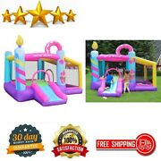 Inflatable Bouncy House With Blower Jumping Castle With Slide Ball Pit Kids Fun