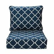 In4 Care Outdoor Patio Deep Seat Cushions And Back All Weather Large Size Rep...