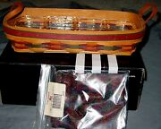 New 1997 Longaberger Fathers Day Personal Organizer Basket- Protector And Liner