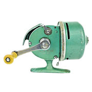 Vintage South Bend Fishing Reel Spin Cast 77 Made In Usa Green Works R15