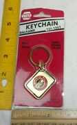 Corvette Keychain Solid Brass Early 1980s Nos Baked Enamel Colors Napa Vintage