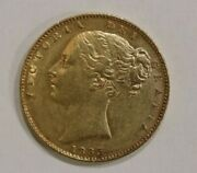 1863 Victoria Shield Sovereign Gold Coin Better Early Date Bi1d