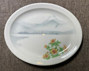 Syracuse China Northern Railroad Plate 7 Usa 10-ee Oval Mountains Flowers