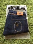 Used A Bathing Ape Stussy Denim Pants Jeans Mens M Size Home Cleaned Indigo