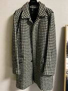 Used 2007 Autumn Winter Dior Homme White Black Coat Mens M 48 Size Very Rare