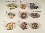 You Pick Vintage Brooches Pettipoint Austria+