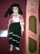 The Heritage Mint Collection Christmas Doll 40cm Tall Brooke.