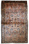 Handmade Antique Oriental Rug 3.4and039 X 5.4and039 103cm X 164cm 1920s - 1b743