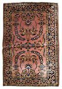 Handmade Antique Oriental Rug 3.3and039 X 5.2and039 100cm X 158cm 1920s - 1b745