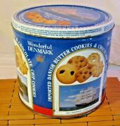 Wonderful Denmark Collectors Tin Imported Danish Butter And Chocolate Cookie 7.5