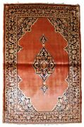 Handmade Antique Oriental Rug 3.5and039 X 5.3and039 106cm X 161cm 1920s - 1b750
