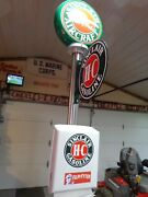 Gas Station Island Light Sinclair 102 Inches Tall Including Lighted Globe