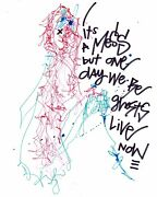 Michael Alan - Its A Mess But One Day We Will All Be Ghosts 2020 - Encre Sur Vandeacute
