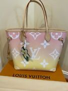 New Louis Vuitton Neverfull Mm Light Pink By The Pool Large Tote Bag W/receipt