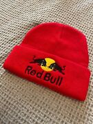 Red Bull Athlete Beanie Hat Red One Size Winter Hat New