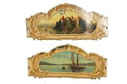 Merry-go-round/carousel Tole Rounding Boards Pair   Carnival Salvage