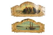 Merry-go-round/carousel Tole Rounding Boards Pair | Carnival Salvage