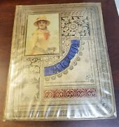 Superior 1882 Victorian Trade Card Album 94 12x15 Pages W/over 750 Cards