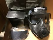 Avon Fm50 /m50 Cbrn Gas Mask Size Large W/ Filter Never Used