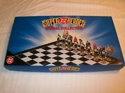 Dc Superheroes Batman Chess Set Very Rare With Free Shipping