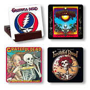 Grateful Album Cover Reproduction Coasters With Wood Holder Musician Gift Rock A