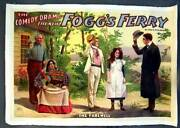 Foggand039s Ferry Original C.1900 Large Theatrical Poster Linen Backing The Farewell