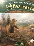 Sealed New Hayden Lambsonand039s Andlsquogrizzly Remainsand039 Reflective Art 550 Piece Puzzle
