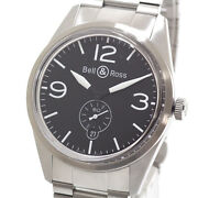 Bell And Ross Brv123 Original Black Dial Automatic Winding Menand039s Watch [u0720]