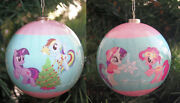 One 2013 My Little Pony American Greetings Decoupage Ball Christmas Ornament