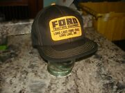 Vintage K Brand Ford Tractors Equipment  Patch Trucker Hat Long Lake Mn Nice