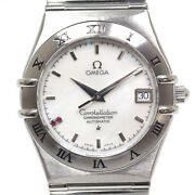 Omega Constellation 1516.76 2p Ruby White Shell Dial Automatic Menand039s Watch U0720