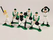 Lot Of 6 1981 Wilton Baseball Plastic Players Cake Toppers