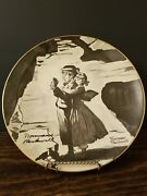 Vintage 1974 Norman Rockwell Plate Tom Sawyer Lost In The Cave With Hanger