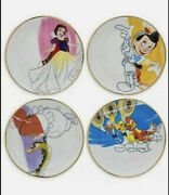 New Disney Ink And Paint Ceramic Salad Plate Set And03930s-andlsquo40s