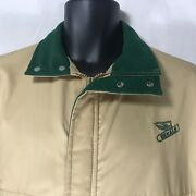 Vintage Dekalb Seed Swingster Heavy Farm Jacket Menand039s M Tan And Green