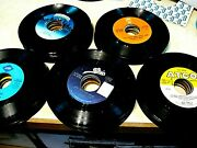 45 Rpm Vinyl Records Lot Of 100 - Mixed Group - Pop Rock Country Jukebox Crafts