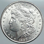 1890p United States Of America Silver Morgan Antique Us Dollar Coin Eagle I89113