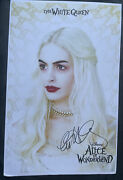 Anne Hathaway Signed 11x17 Alice In Wonderland Poster Photo The White Queen