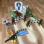 Melissa And Doug Plush Horse Show Play Set Train And Jump Complete 25 Pc Adorable