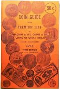 1963 Coin Guide With Premium List Canadian Us Great Britain By Charlton 12000